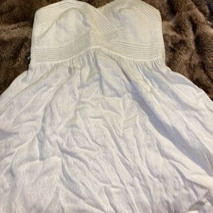 white strapless urban dress